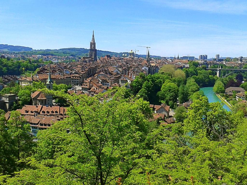 The Rosengarten with its rewarding views is only a short walk uphill from the old-town of Bern.