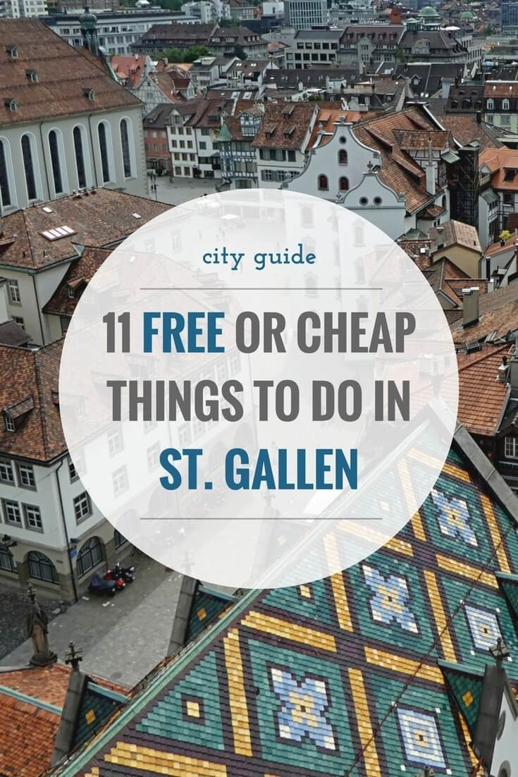 The city of St. Gallen is famous for many things. Be that its long textile industry, the mighty cathedral, the Abbey district or the recreational area of Drei Weieren. Here's a city guide with free or cheap things to do while you're in the area.