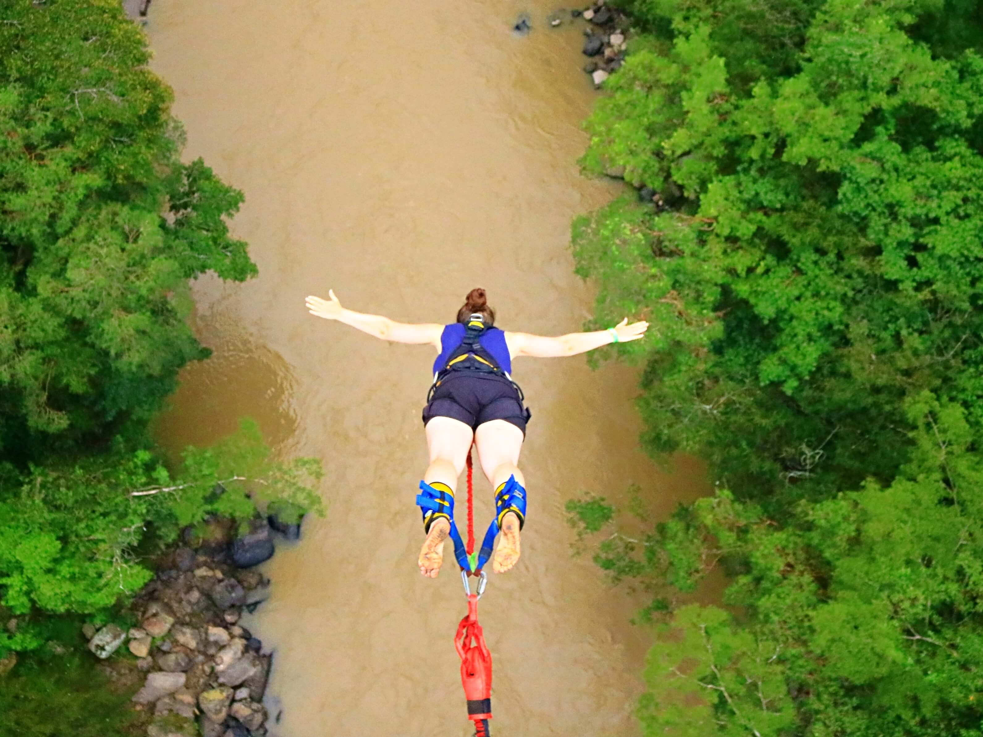The bungy I regret doing in Colombia
