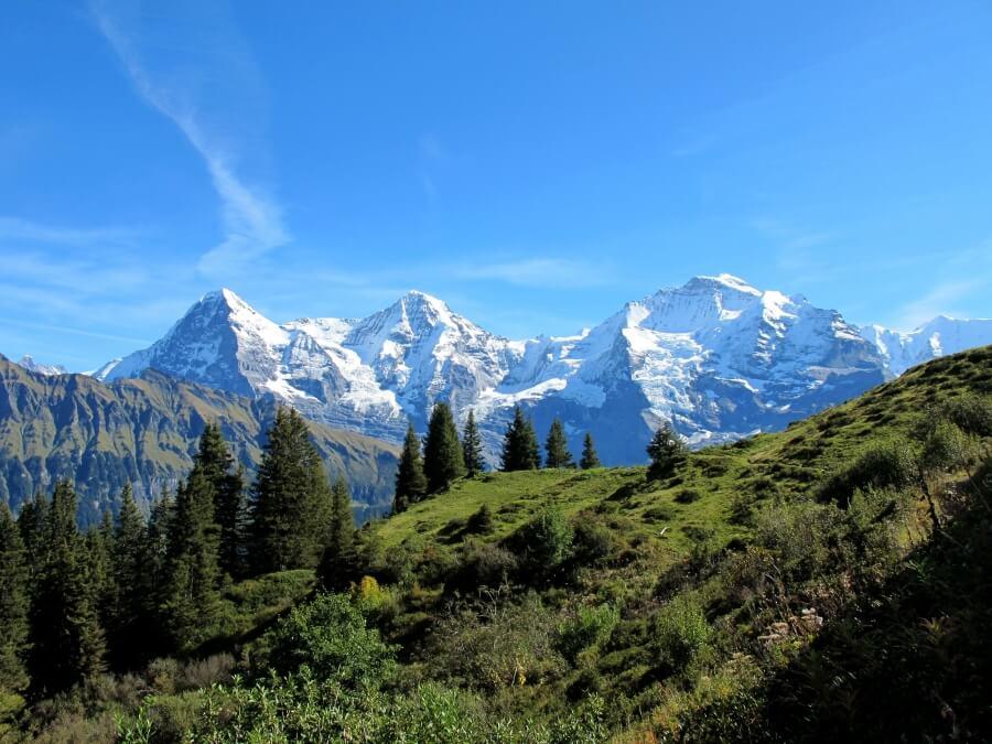 Eiger Mönch and Jungrau Mountains