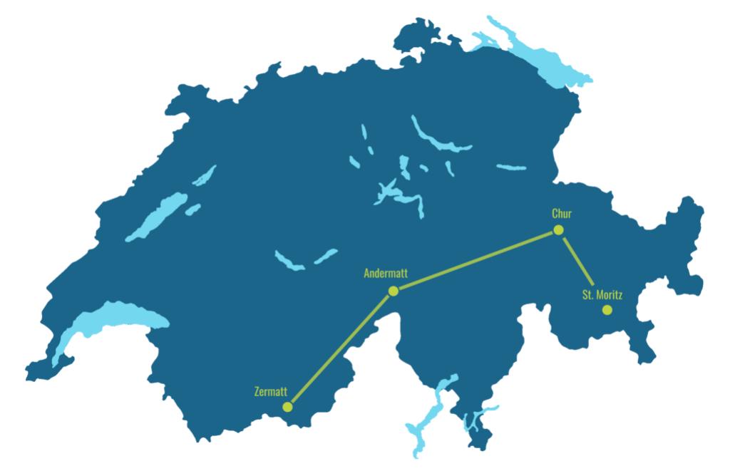 Glacier Express map