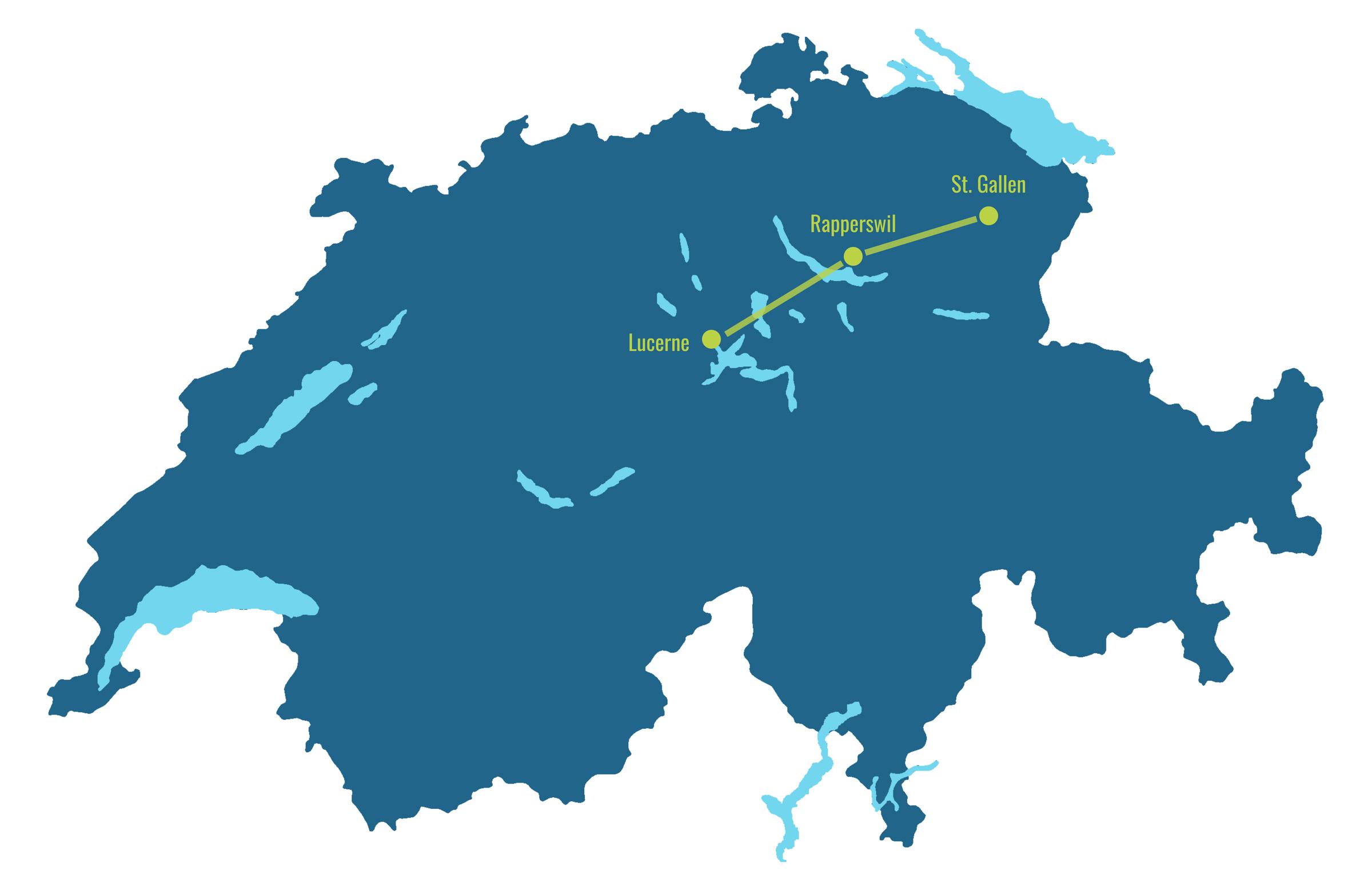 Voralpen Express map