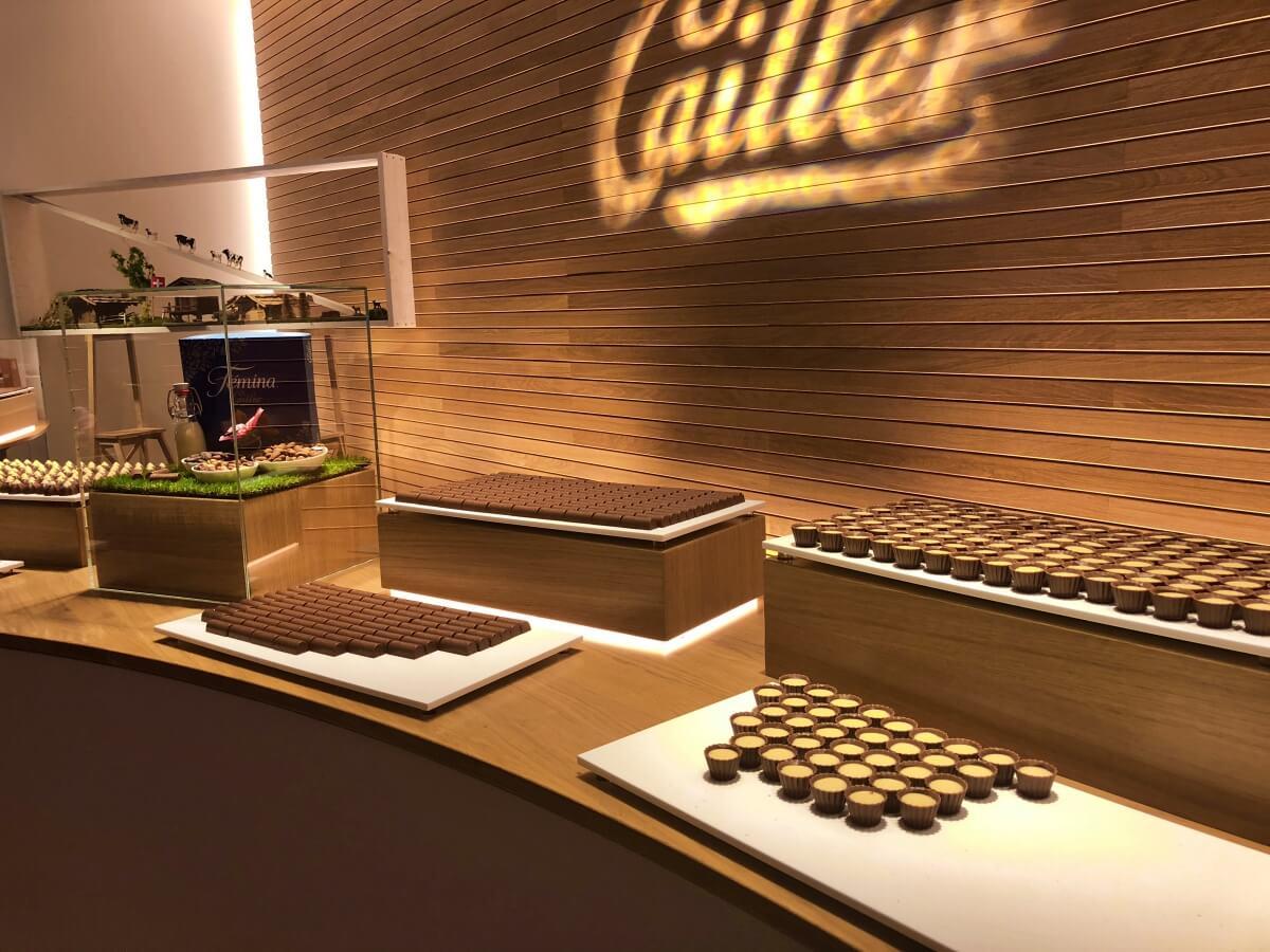 tasting station Maison Cailler