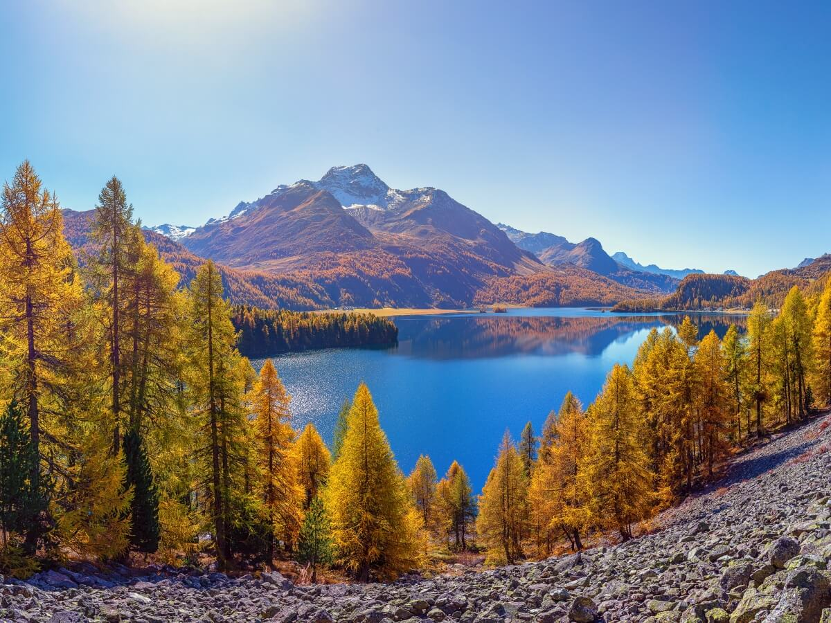 Silsersee in autumn