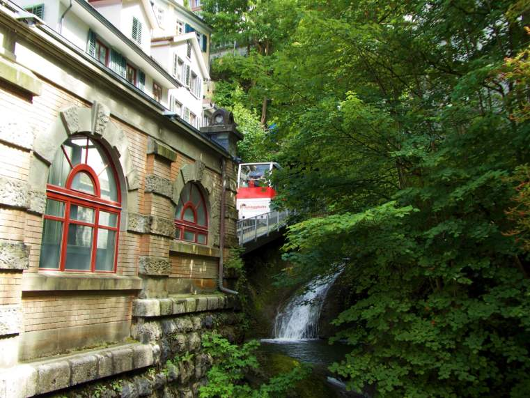 Take a ride on the Mühleggbahn, the oldest means of public transport in St. Gallen.
