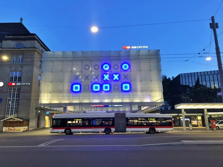binary clock St. Gallen