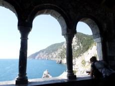 View from San Peter's Church's veranda, Portovenere