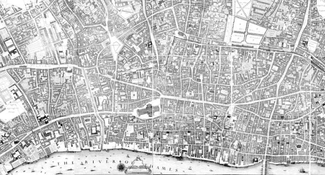 Ogilvie & Morgan 1676 London Map
