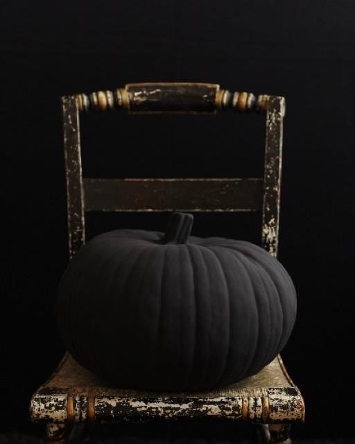 black halloween pumpkin