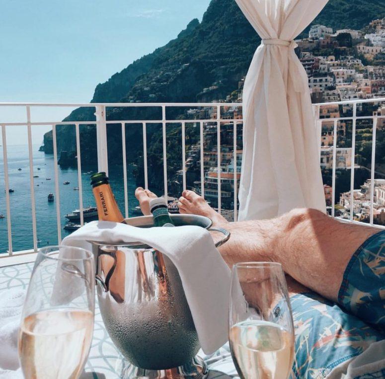 Positano Italy Champagne