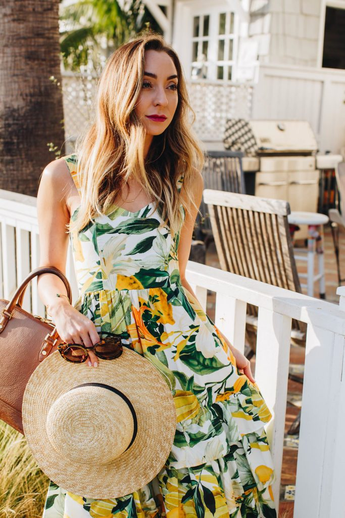 H&M yellow lemon day dress