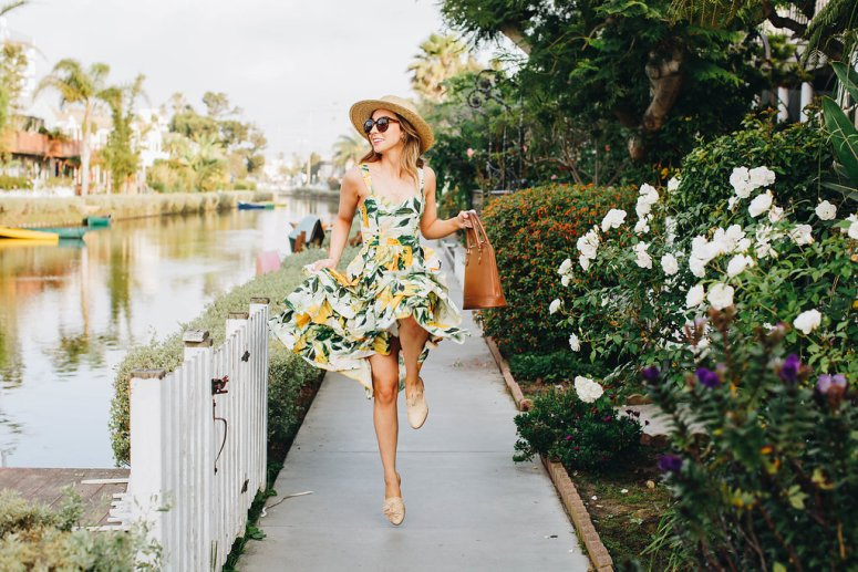 summer outfit ideas lemon yellow dress