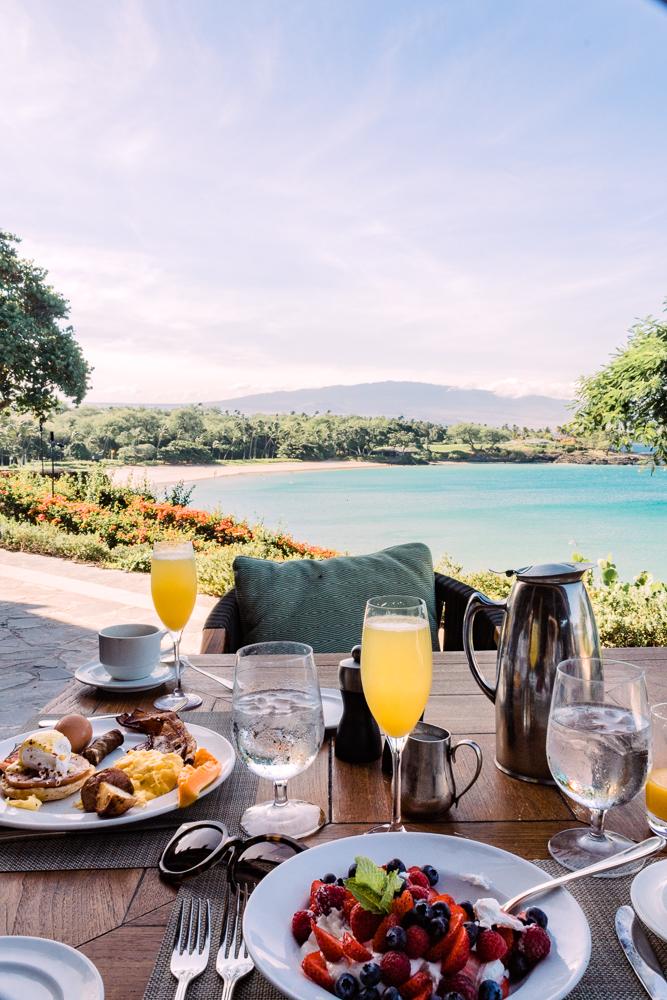 Breakfast at Manta in Mauna Kea Resort Hawaii