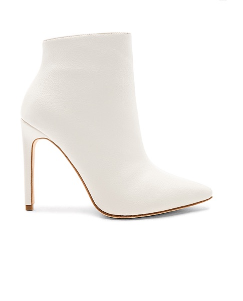 Raye congo boot in white - leather bootie