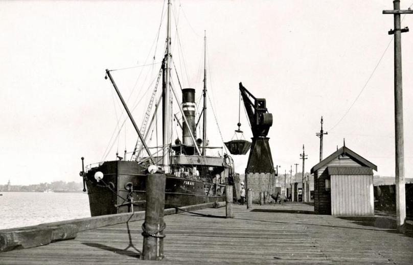 Crane & coal skip at Newcastle Harbour c1920's photo from Lost Newcastle member