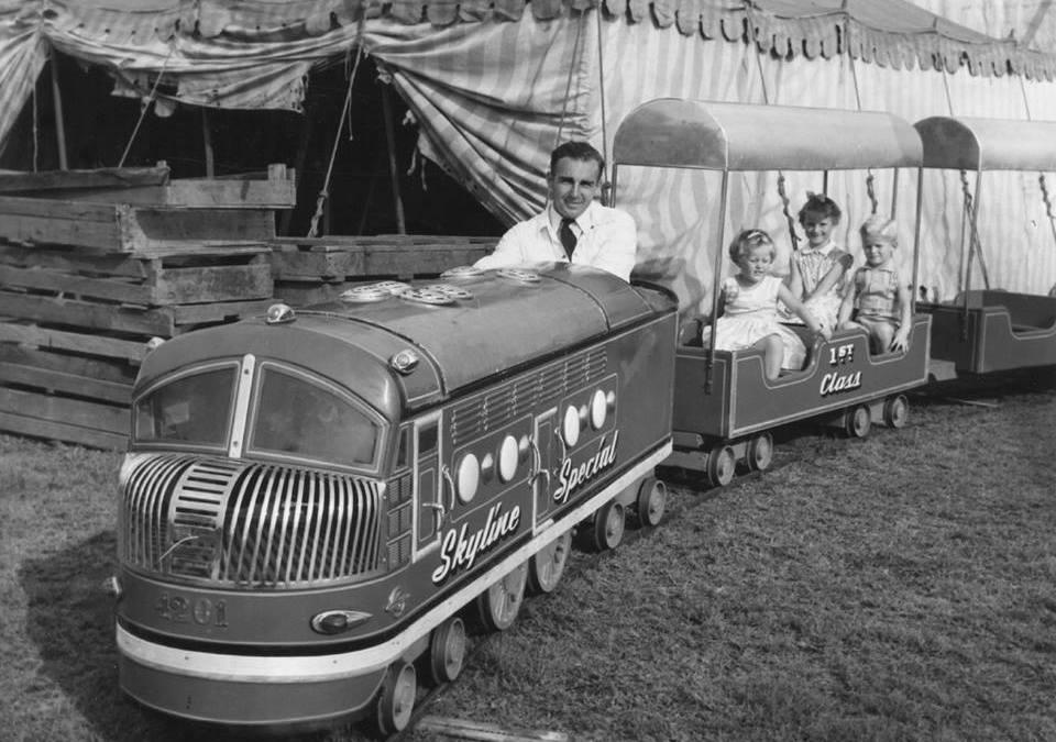 Skyline Drive-In Lambton train ride