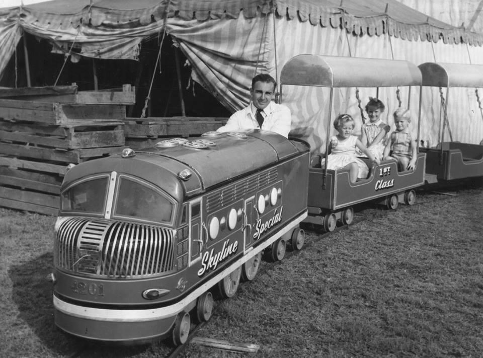 Skyline Drive-In New Lambton train ride