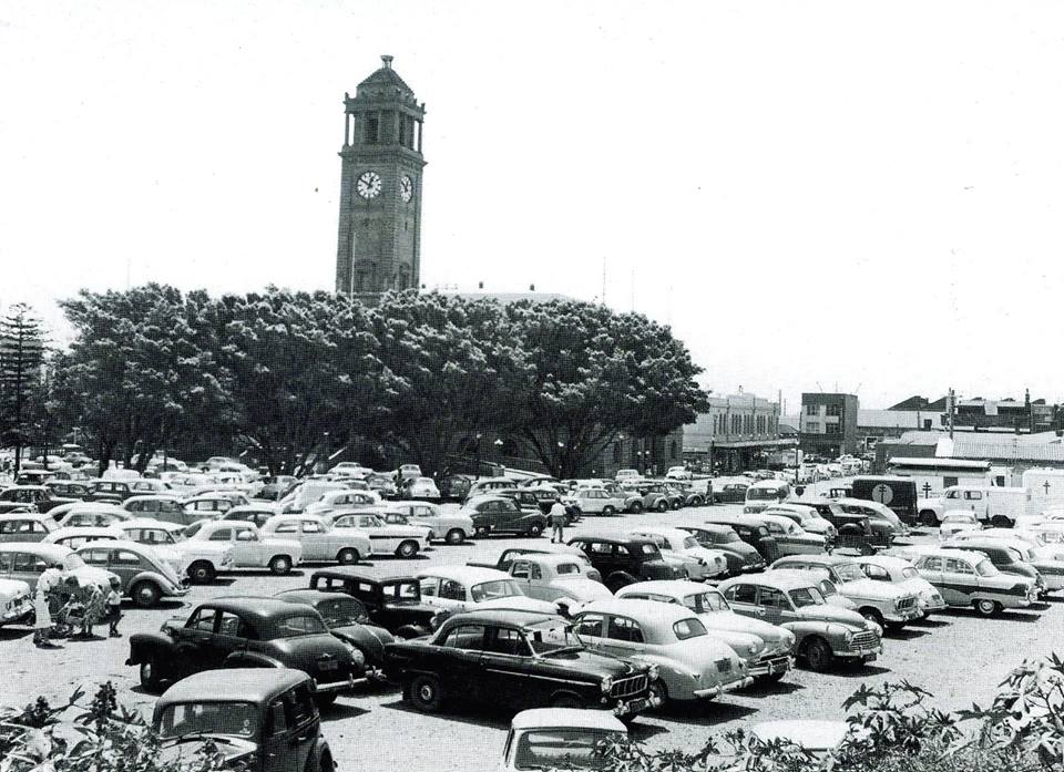 Civic Park Carpark 1950s