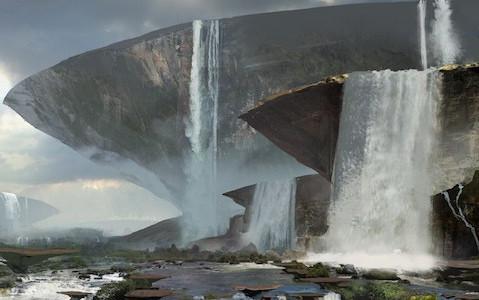 ウォルシュプール大河のテーブルロックから流れる大滝の圧倒感!