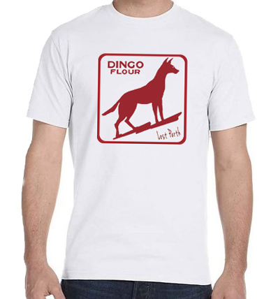 white dingo flour mens t-shirt