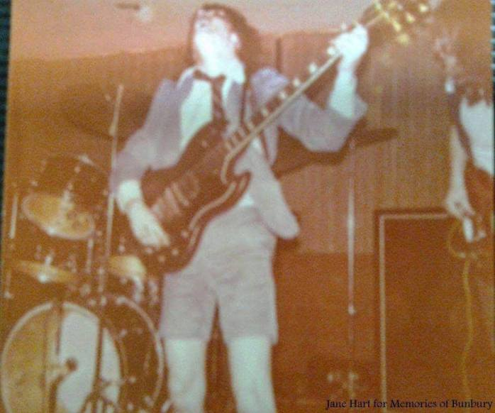 ACDC played at the Bussell Motor Hotel Angus 1975
