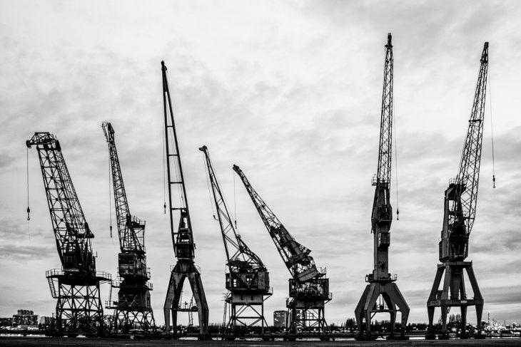 harbour cranes – picture