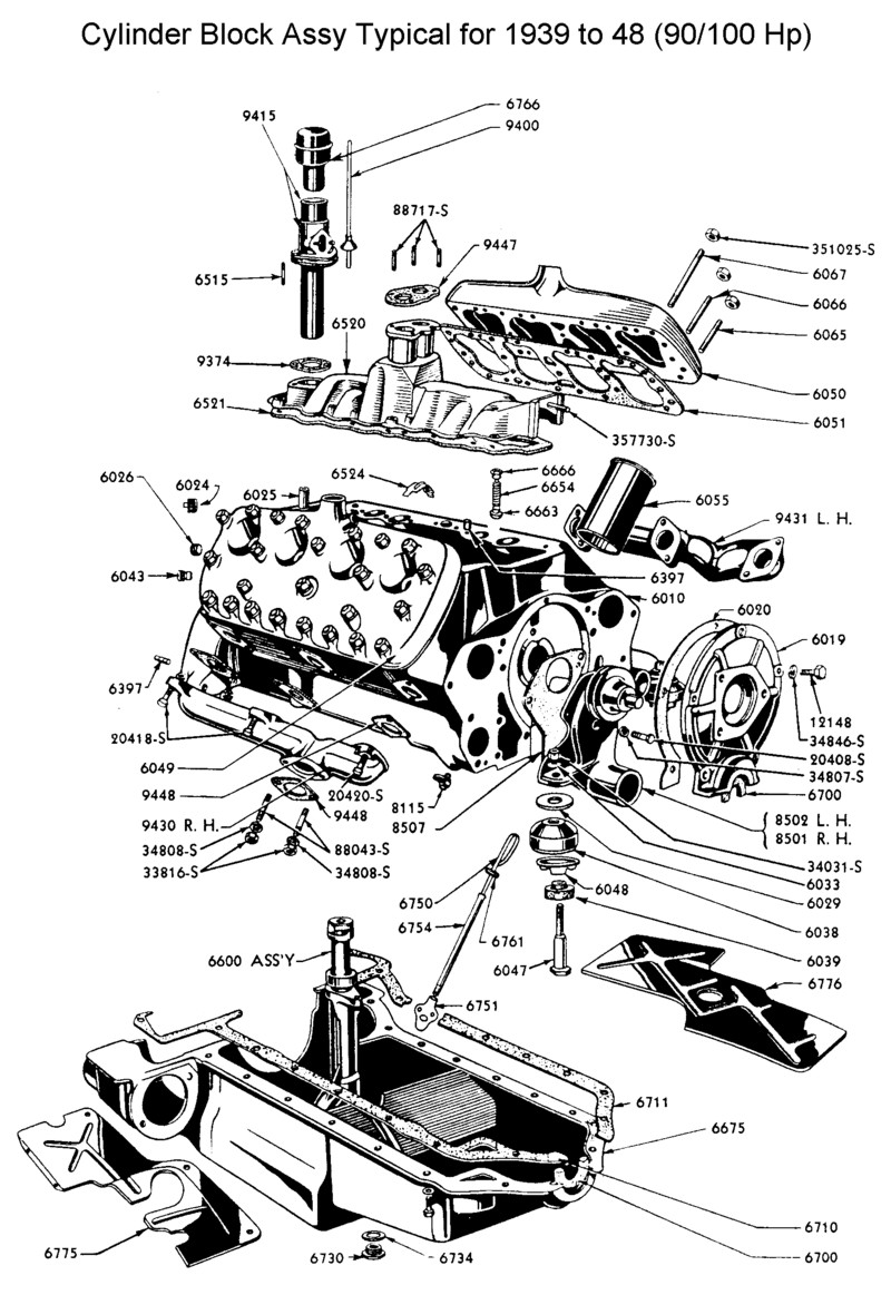 flathead ford engine diagram