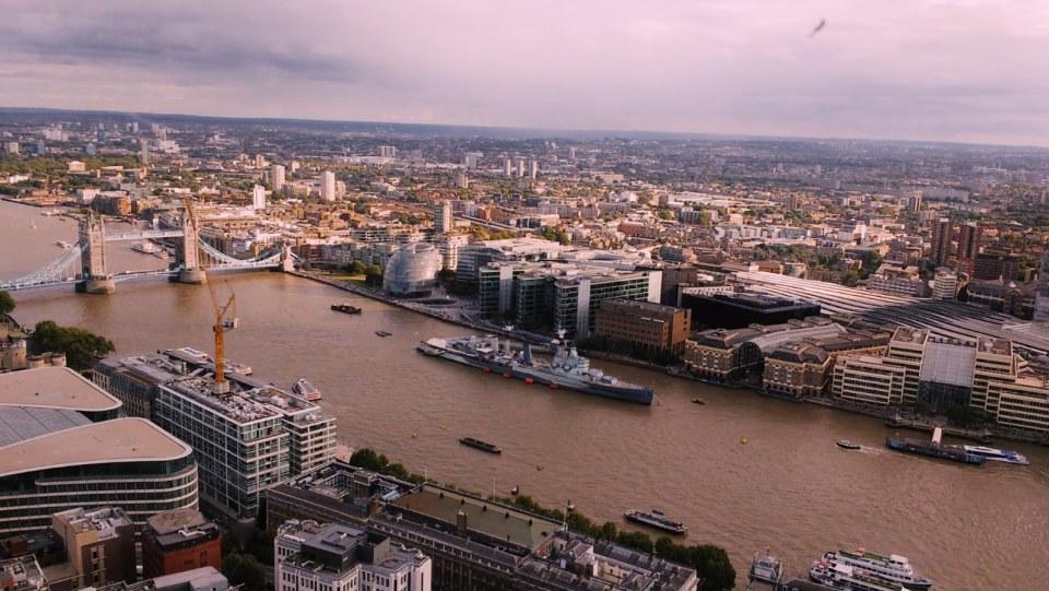 Vista su Londra dallo Sky Garden