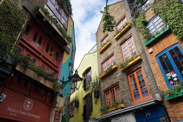Facciate del cortile di Neal's Yark in Covent Garden