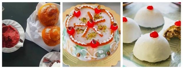 I grandi clssici dei dolci tipici siciliani: la granita con la brioscia col tuppo, la cassta e le minne di Sant'Agata