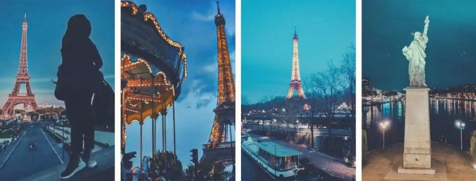 Diverse prospettive da dove fotografare la Tour Eiffel