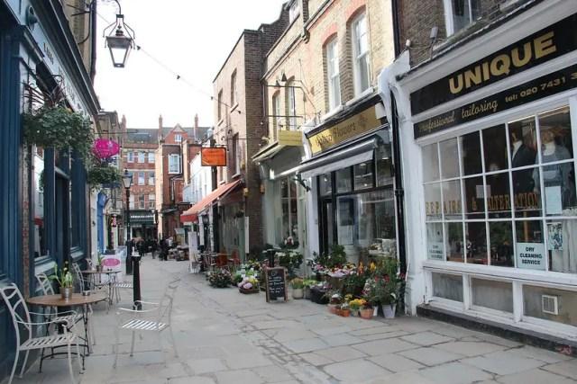 Flask Walk, una delle stradine più belle di Hampstead