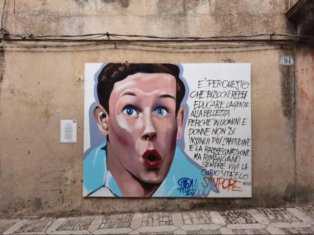 Street art nel borgo medievale di Erice
