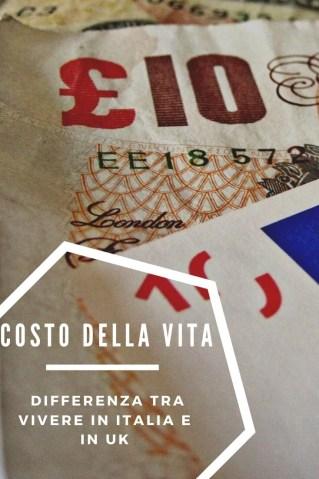 vivere in Italia vs UK - costi a confronto
