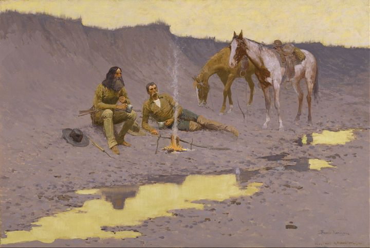 A New Year on the Cimarron, Frederic Remington, 1903