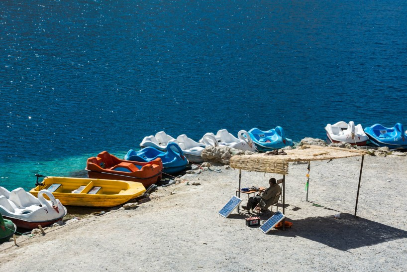 The famous swan paddle boats of Band-e-Amir, Afghanistan - Lost With Purpose