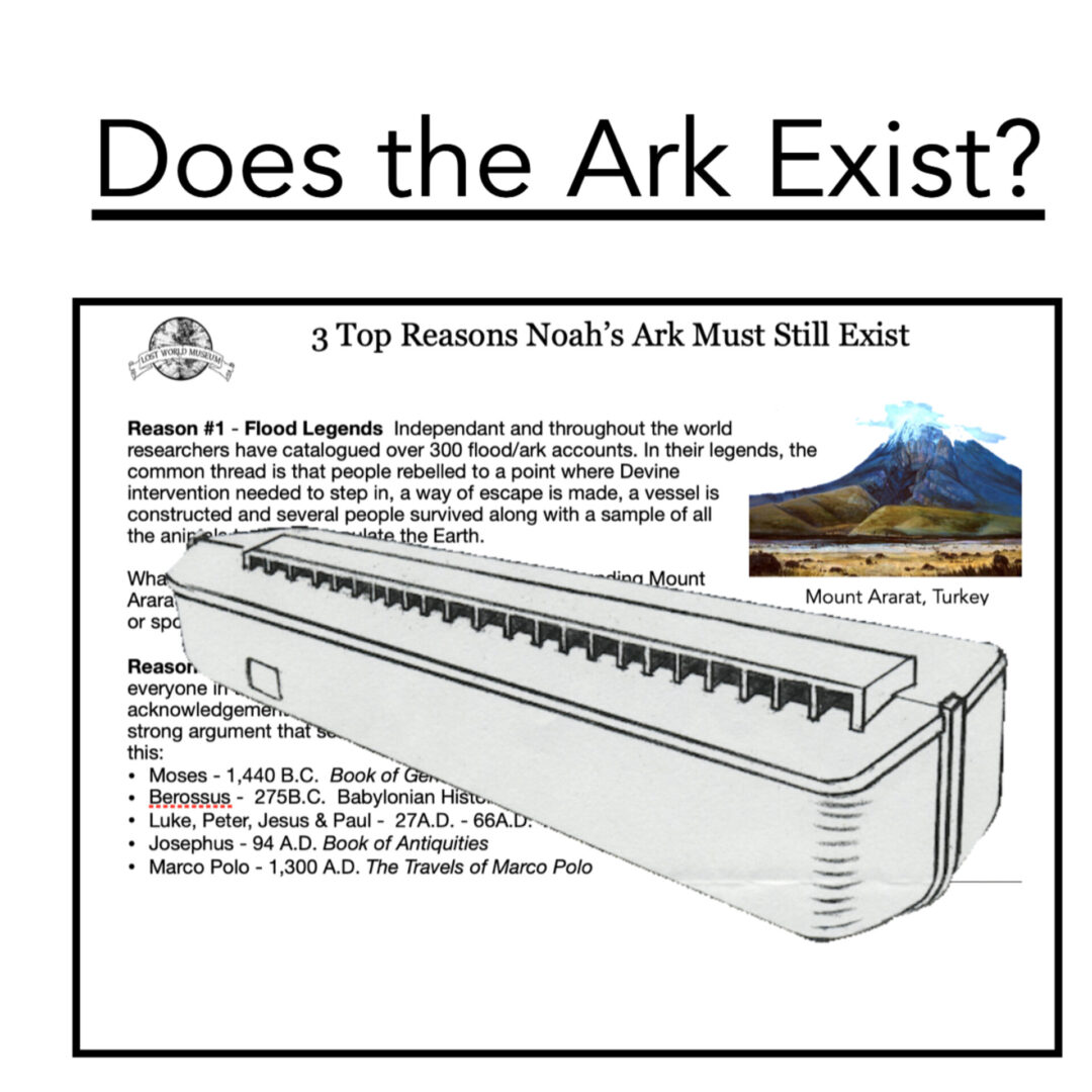 3 Reasons Noah's Ark Must Exist: Reason 1