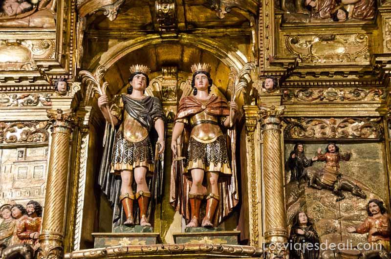 retablo con las figuras de los mártires persas