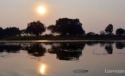 Atardecer en el Delta Okavango