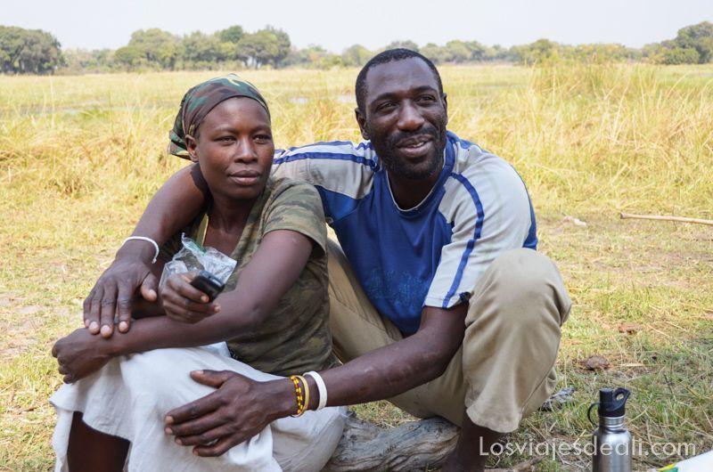 pareja de Botswana en Gentes de África