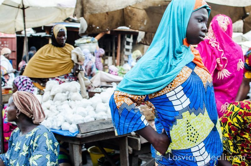 mercado de Benin sin mirar por el visor