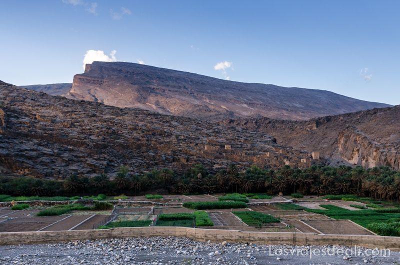 pueblo de las montañas de Omán