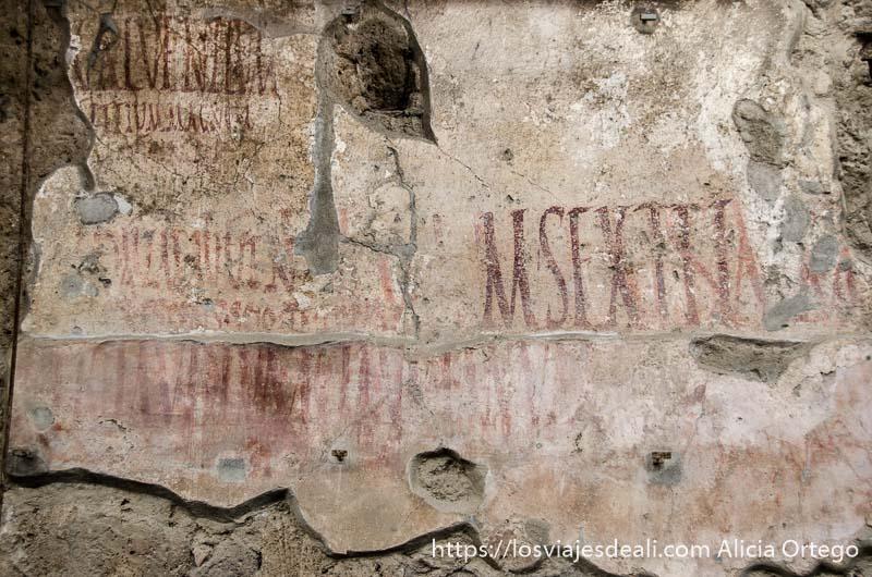 carteles electorales de la antigua pompeya