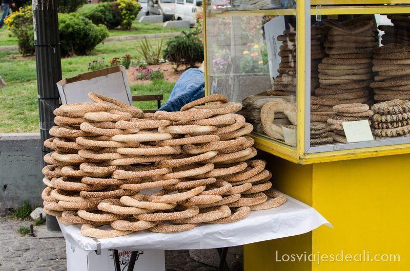 roscas de sésamo gastronomía griega