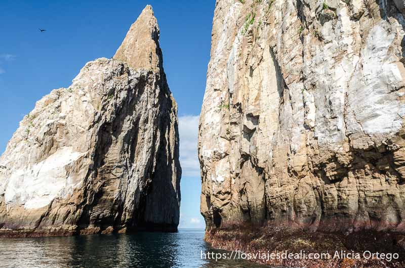 roca león dormido de cerca en isla san cristóbal galápagos