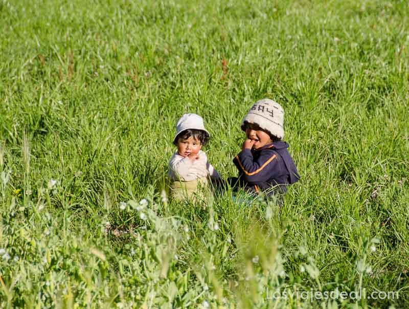niños de comunidad humacchuco