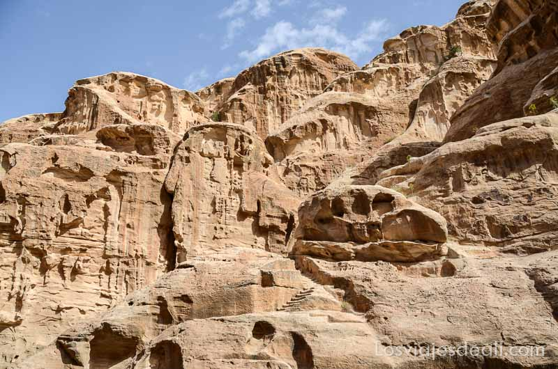 rocas en pequeña petra