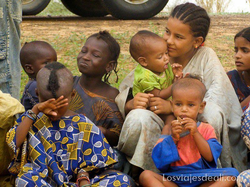 niños nómadas del Sahel