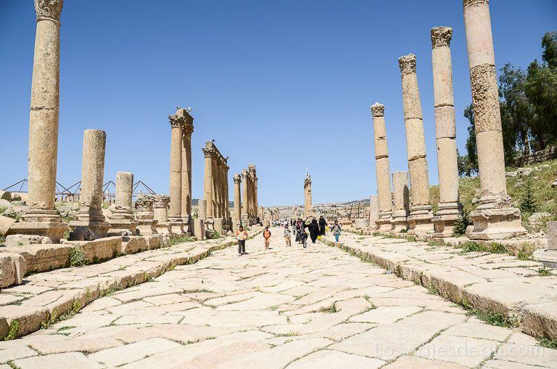 ruinas de jerash avenida