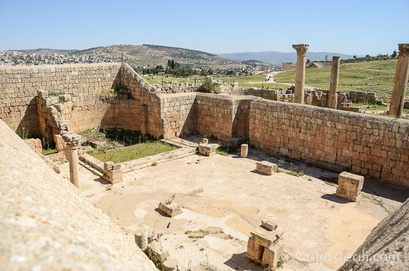 ruinas de jerash iglesia san cosme